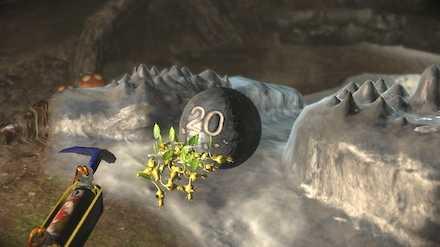 鉄球を転がして洞窟を脱出