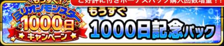 1000日記念パック