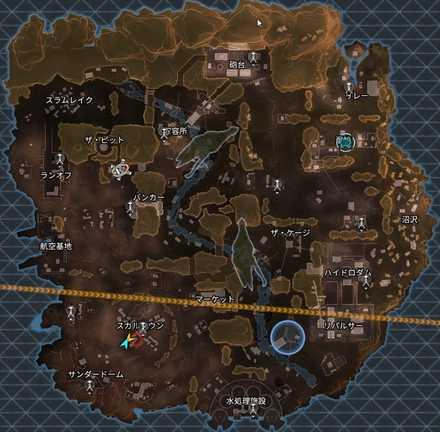シャドウロワイヤルのマップ