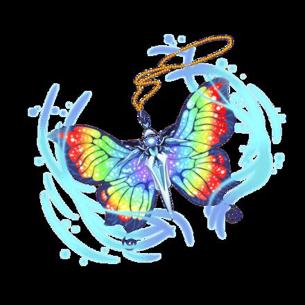 アルカンシエルネックレス【虹霓蝶】の画像