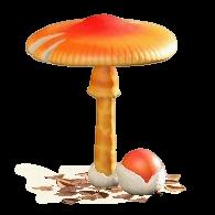 キノコのパラソルのよくあるキノコの画像