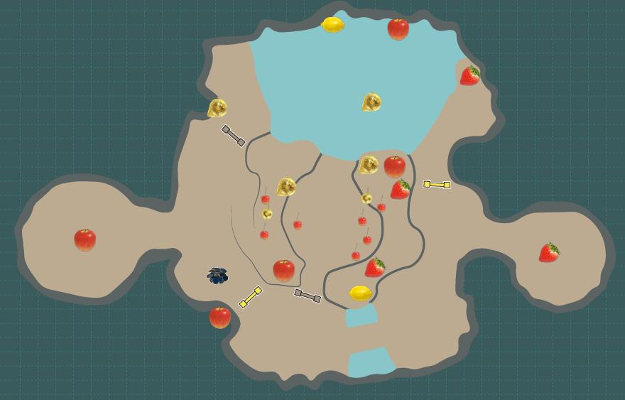 落葉の回廊のマップ