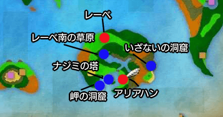 アリアハン周辺マップ