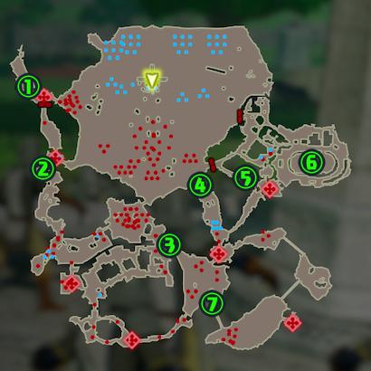 ハイラル平原コログマップ