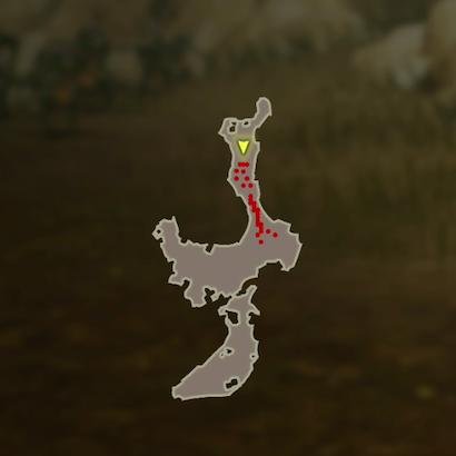 リンクの特訓 槍のマップ