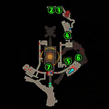 ハイラル城コログマップ