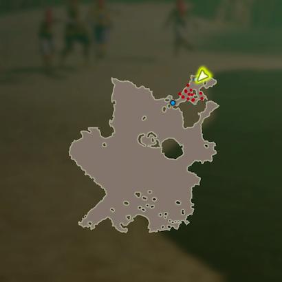 ゲルド砂漠頂上決戦のマップ