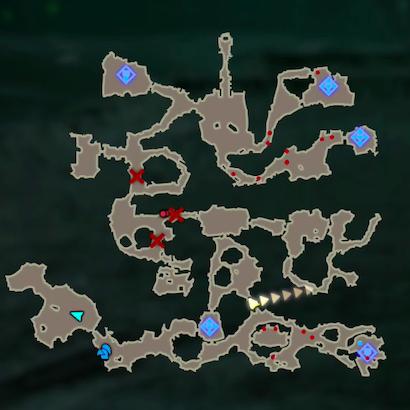 勇気の泉護衛戦のマップ