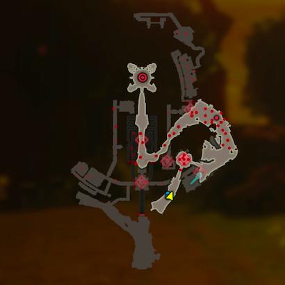 ハイラル城からの脱出のマップ