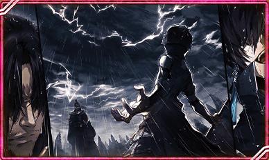 道具に降る終雨の画像