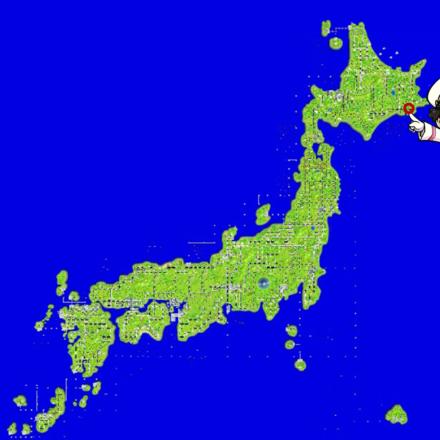 厚岸のマップ画像
