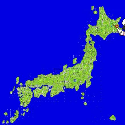 別海のマップ画像