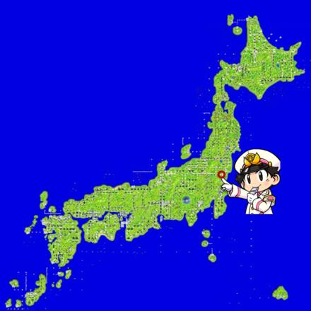 笠間のマップ画像