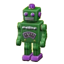 ブリキのロボット画像