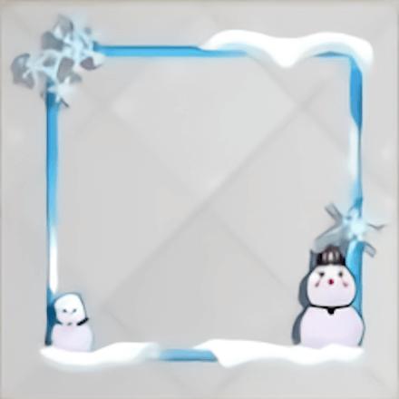 初雪だるまフレーム
