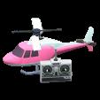 ラジコンヘリコプターのピンクの画像