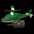 ラジコンヘリコプターのグリーンの画像