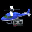 ラジコンヘリコプターのブルーの画像