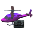 ラジコンヘリコプターのパープルの画像