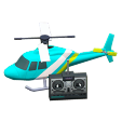 ACNH - The Light Blue version of RC Helicopter