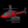 ラジコンヘリコプターのレッドの画像