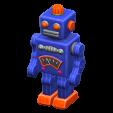 ブリキのロボットのブルーの画像