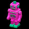 ブリキのロボットのピンクの画像