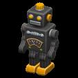 ブリキのロボットのブラックの画像