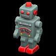 ブリキのロボットのシルバーの画像