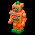 ブリキのロボットのオレンジの画像