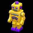 ブリキのロボットのイエローの画像