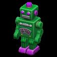 ブリキのロボットのグリーンの画像