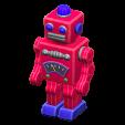 ブリキのロボットのレッドの画像