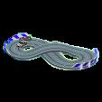 ミニサーキットのブラック&シルバーの画像