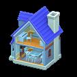 ドールハウスのブルーの画像