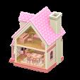 ドールハウスのピンクの画像