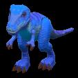 きょうりゅうのおもちゃのブルーの画像