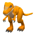 ACNH - The Brown version of Dinosaur Toy