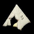 キッズテントのホワイトの画像