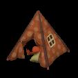 キッズテントのブラウンの画像