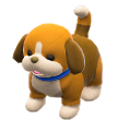 ACNH - The Tri-Color version of Puppy Plushie