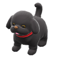 ACNH - The Black version of Puppy Plushie