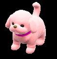 いぬのぬいぐるみのピンクの画像