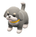 ACNH - The Gray & White version of Puppy Plushie