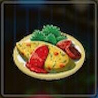 野菜オムレツ画像