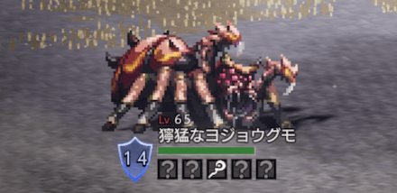 獰猛なヨジョウグモ(LV65)
