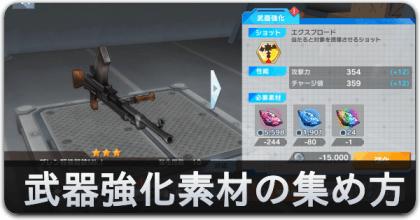 武器強化素材の集め方