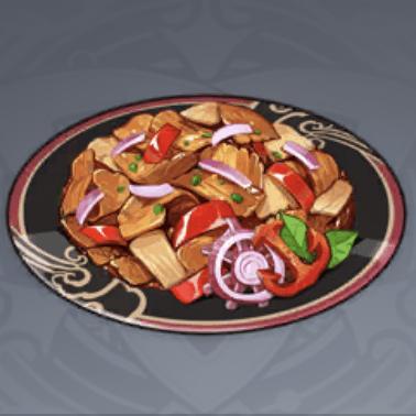 豚肉の唐辛子炒めの画像