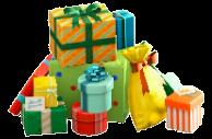 プレゼントのやまのカラフルの画像