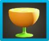 オレンジのサイドテーブル画像